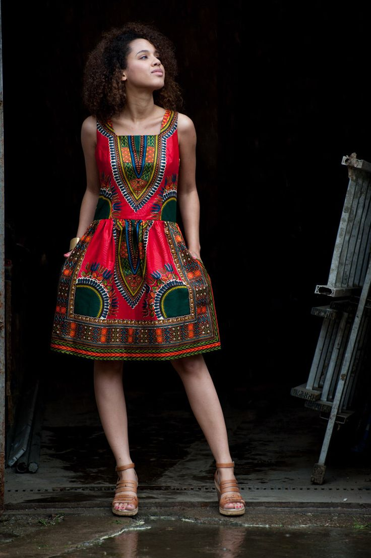 African dress Addis Abeba - Coral by KOKOworld on Etsy https://www.etsy.com/listing/234895765/african-dress-addis-abeba-coral