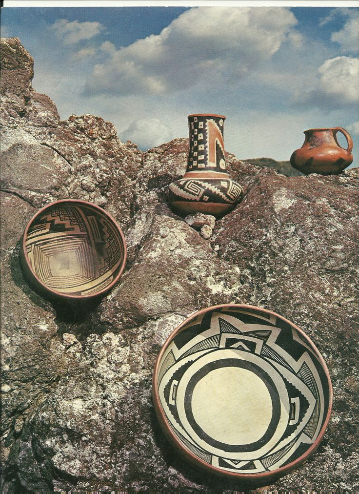 All shown are prehistoric pottery from the Tonto Basin area. Uploaded from the Arizona Highways Magazine.