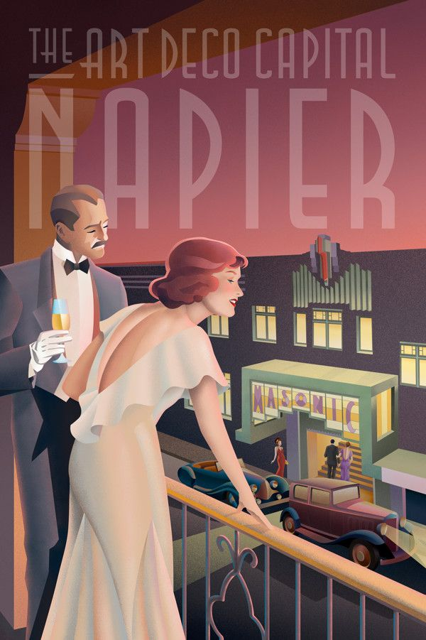 Art Deco Glamour by Stephen Fuller, via Behance
