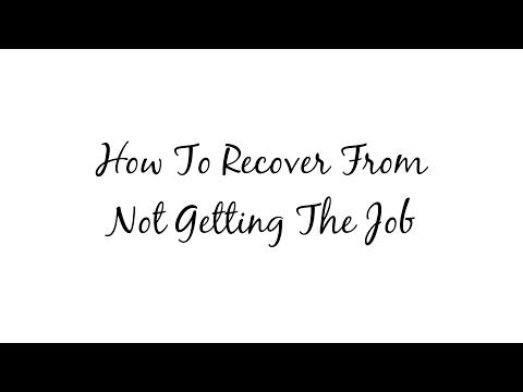 If You Just Got Turned Down For A Job, The World Is Not Over. You Have  Plenty Of Time Left, And With The Right Strategy, You Can Find A Good Job  For ...