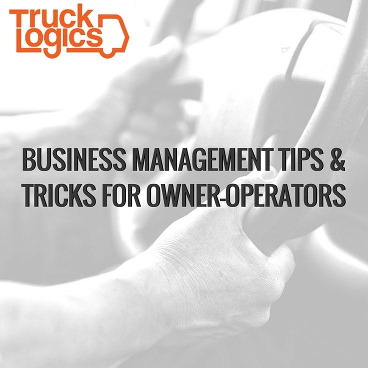 TruckLogics - Blog: Business Management Tips & Tricks for Owner-Operators