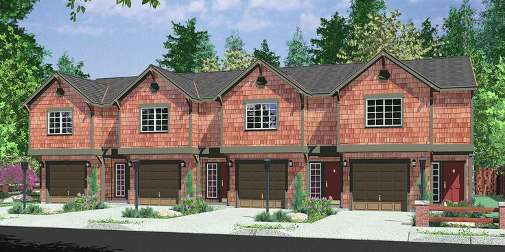88 best triplex and fourplex house plans images on for Reverse living homes