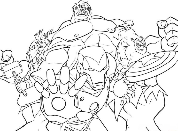 Coloring Pages Of Marvel Avengers : Disney infinity marvel colouring pages coloring