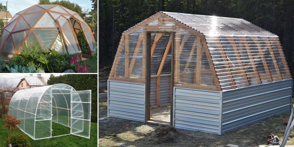 Amazing collection of 15 greenhouse ideas that you can use for building your own greenhouse.