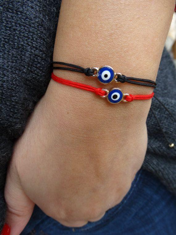 Two Greek Evil Eye Bracelets Charm. Good Luck by HouseOfHani