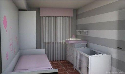 Habitaci n rosa gris ideas habitaciones infantiles for Habitacion bebe gris