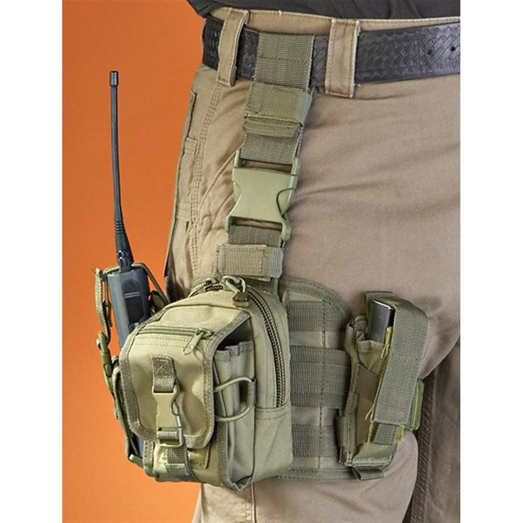 Military-style Drop Leg Panel with Pouches - 172764, Tactical Accessories at Sportsman's Guide