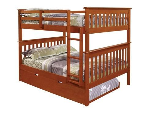 Full over Full Bunk Beds for Kids with Trundle