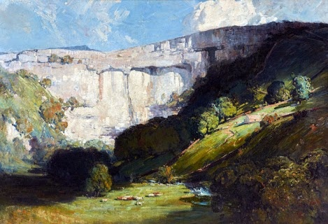 Arthur Streeton-Malham Cove. One of my favourite places in England, Malham Cove in Yorkshire.