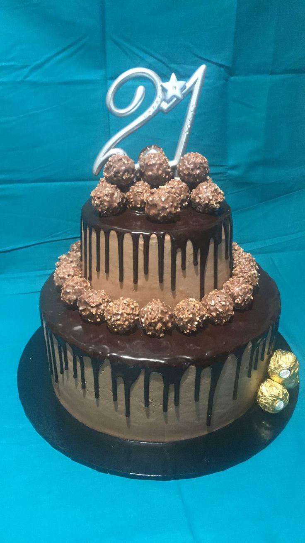 Ferrero Rocher chocolate drip cake.