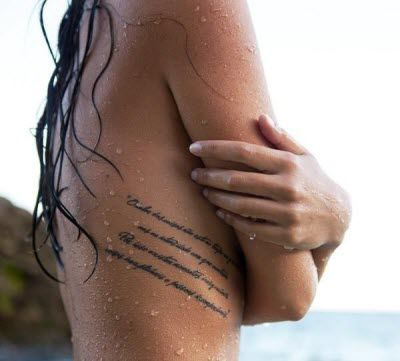 Τατουάζ με γράμματα - 22 σέξι σημεία για γυναίκες - Exodos24
