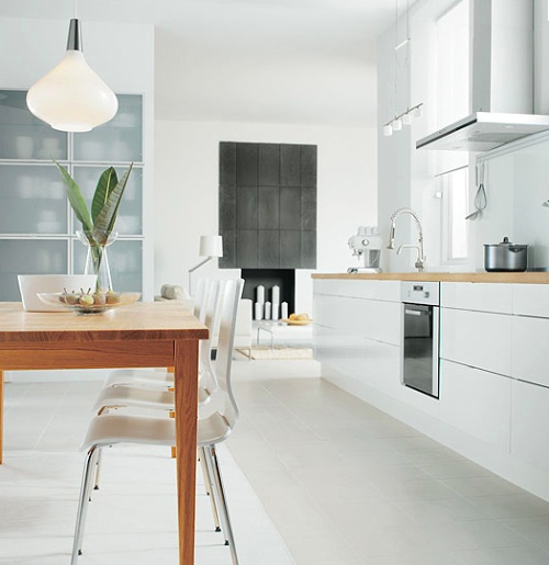 S modern white kitchen from IKEA. photographed by Eric Roth