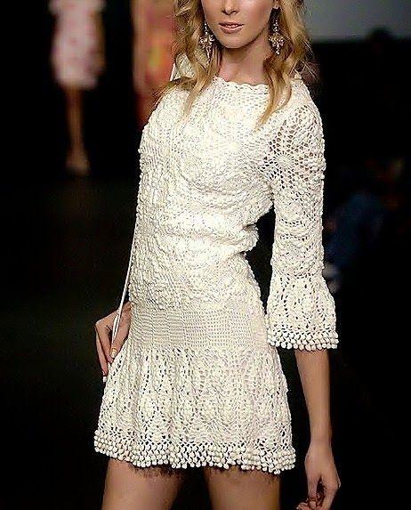 Graficos y Crochet: Vestido de Verano Vanessa Montoro