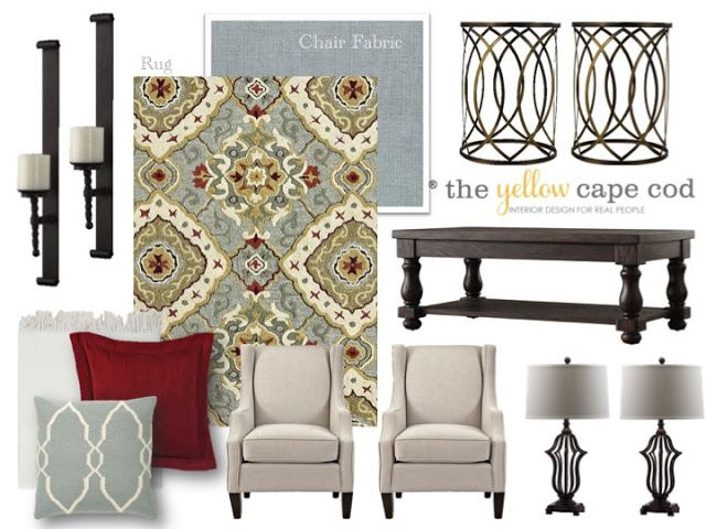 The Yellow Cape Cod: Design Dilemma: Can I Add Blue to My Mostly Red and Yellow…