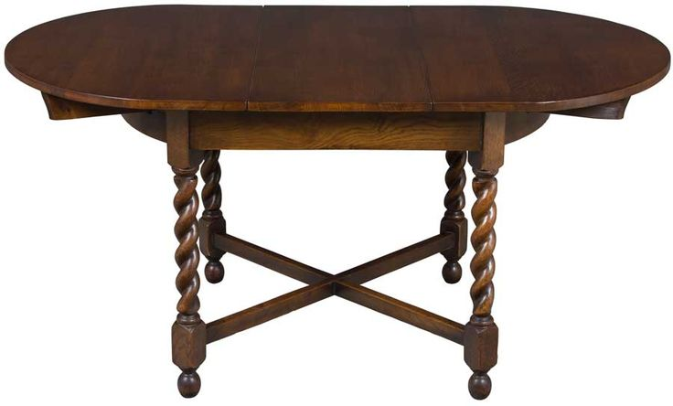 Pub Dining Table on barley twist legs in an oval shape.  Great for a kitchen or breakfast nook table.