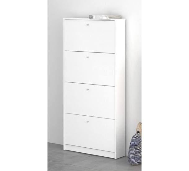 Bright Skoskab - Skoskab i hvid m. 4 rum