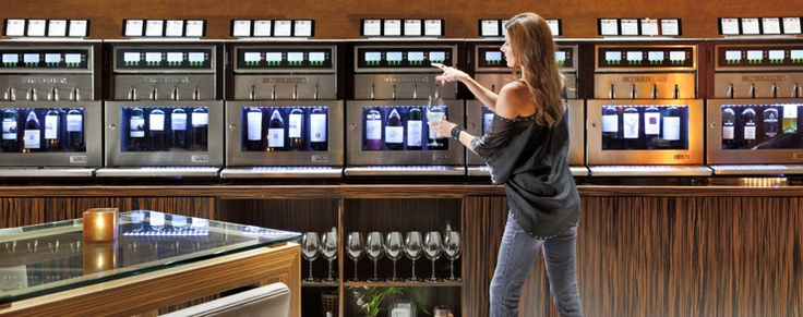Wine dispensary bar at Ivy Nightclub at the Andaz Hotel in San Diego