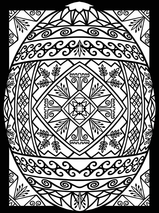 complex easter coloring pages - photo#31