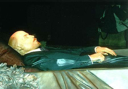 Lenin Body | Lenin lies in state.