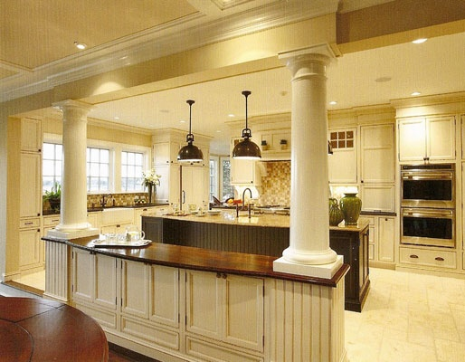Columns In Kitchen House Plans Pinterest