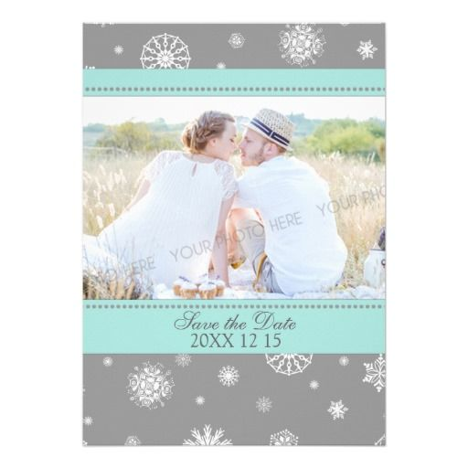 449 best Winter and Snowflake Save the Date images – Winter Wedding Save the Date