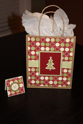 Stuck on Stampin': gift bags & matching tags...Christmas style!
