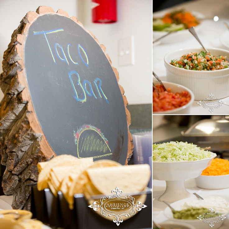 Taco Bar Love The Sign On The Wood For The Wedding