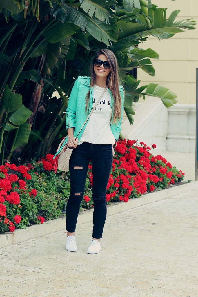 Turquois Leather Jacket