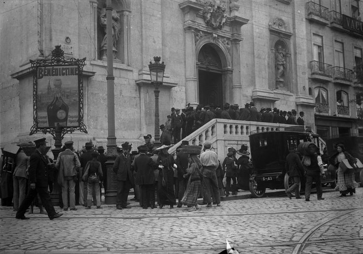 Chiado, Lisbonne, 1907. Joshua Benoliel. AML PT/AMLSB/JBN/002203