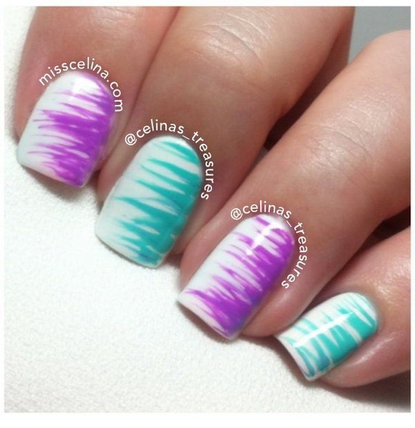 Simple Nail Art With 2 Colors: 157 Best Pretty Nails And Colors And Such Images On