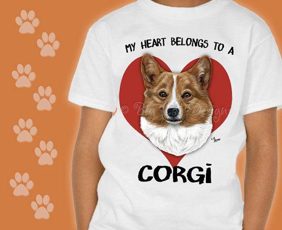 Customizable CORGI TSHIRT. Choose your style Corgi Tee  Corgi Rescue.  Cute Corgi T-Shirt.
