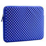 Laptophülle | Evecase Universal Neopren Anti-Schock Laptop Schutzhülle mit Rautenmuster / Diamant-Muster Schaumpolsterung für 15.6 Zoll Laptops Tablets Macbooks Notebooks Chromebook - Blau