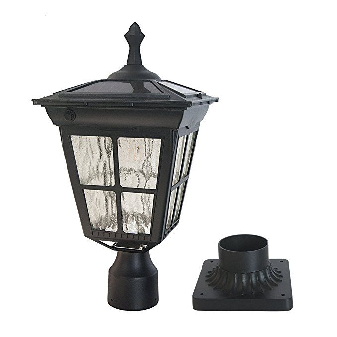Kemeco St4311aq Led Cast Aluminum Solar Post Light Fixture With 3 Inch Fitter Base For Outdoor Garden Pos Solar Post Lights Outdoor Lamp Posts Lamp Post Lights