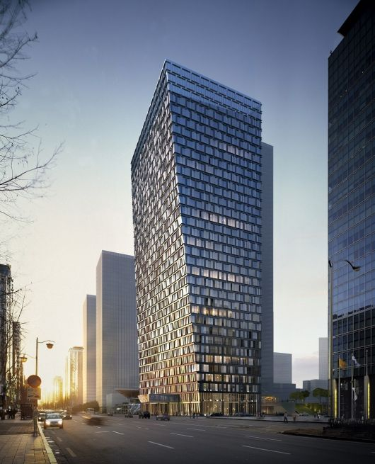 Bustler: Aedas Wins Competition for Xuhui Binjan Media City 188S-G-1 Tower in Shanghai