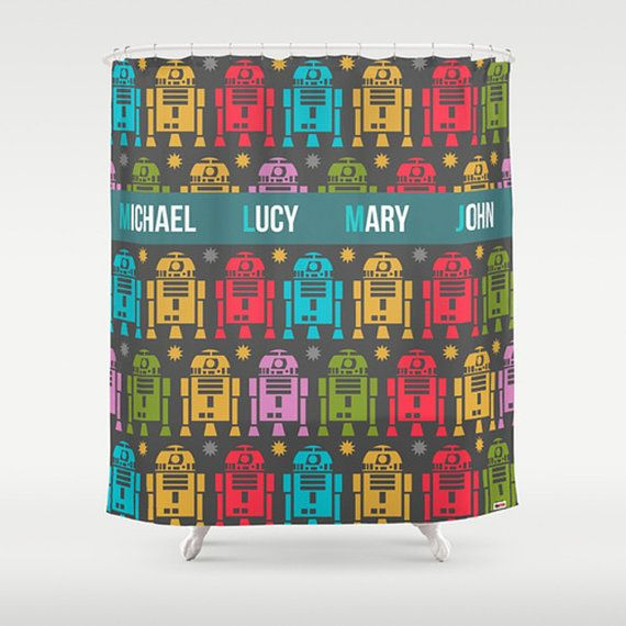 Star Wars Shower Curtain Personalized Modern Shower by thegretest, $140.00