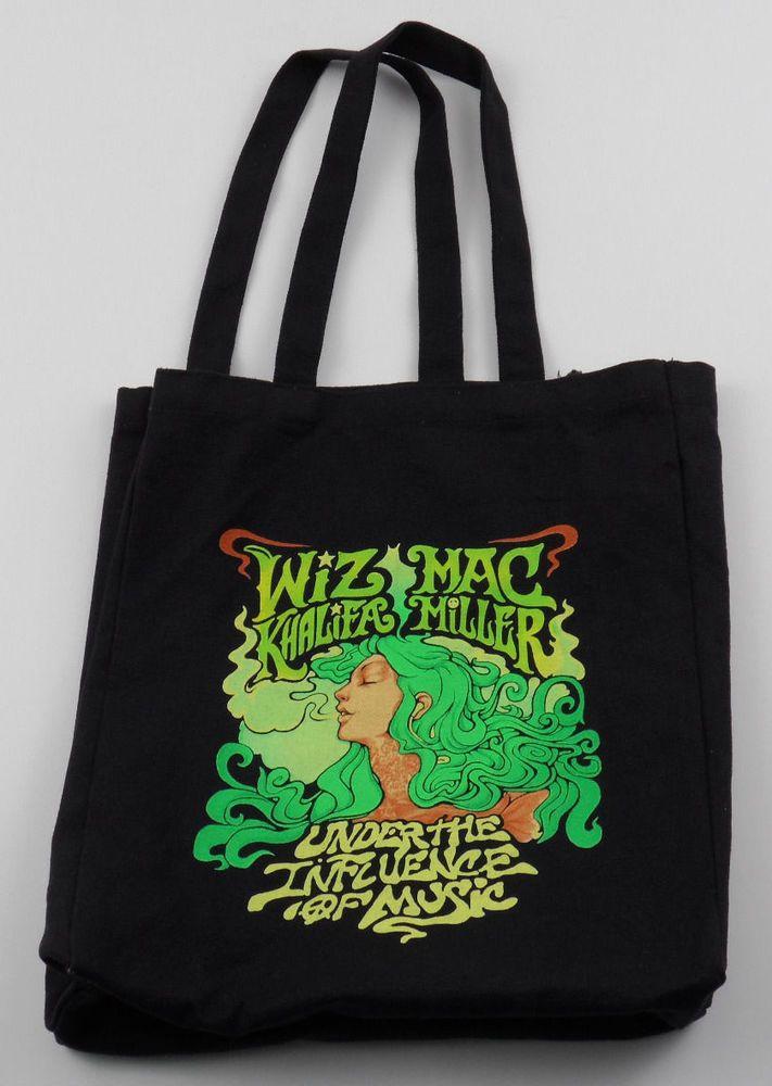 Wiz Khalifa Mac Miller Under the Influence of Music Tote Bag Black 420