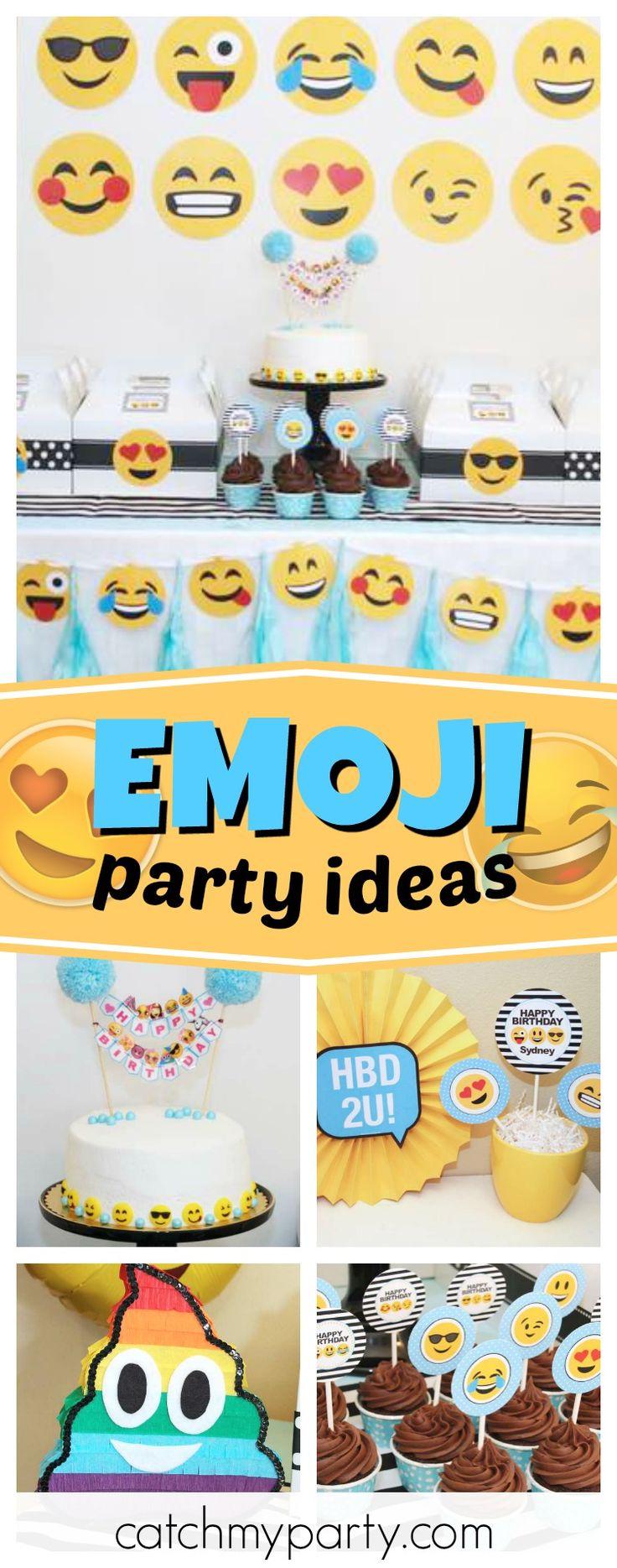 136 best Emoji Party Ideas images on Pinterest | Birthdays ...