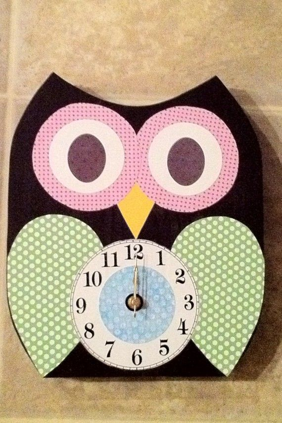 Owl Stuff For The Home Part - 18: Wooden Owl Clock By TheWoodenOwl On Etsy, $42.00 (If I Keep Finding Cute Owl