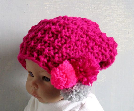 Mommy and Me Toddler Baby Knit Hat Baby Girl Newborn Baby