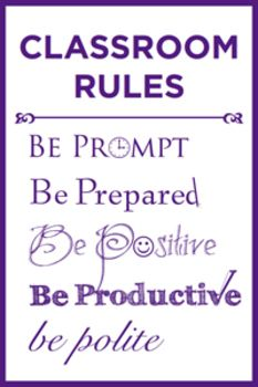 Free classroom rules poster. Simple and sweet!
