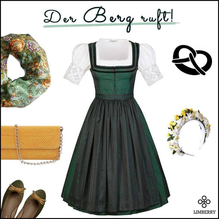 """Zur 260. Erlanger Bergkirchweih, dem """"BERG"""", zeigen wir euch dieses traditionelle Trachtenoutfit. Mit frischen Accessoires wie Clutch von Londine oder einer LIMBERRY Flower Crown rundet ihr den Style perfekt ab. SHOP NOW!"""