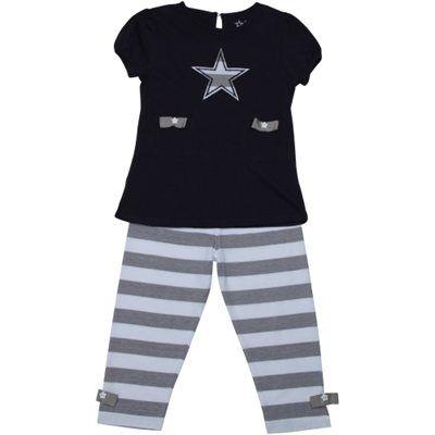 Dallas Cowboys Girls Oopsie Daisy T-Shirt and Pant Set