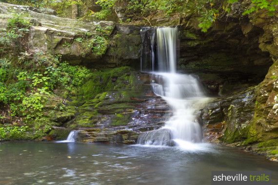 Hike the Catawba Falls Trail to beautiful waterfalls on the Catawba River east of Asheville