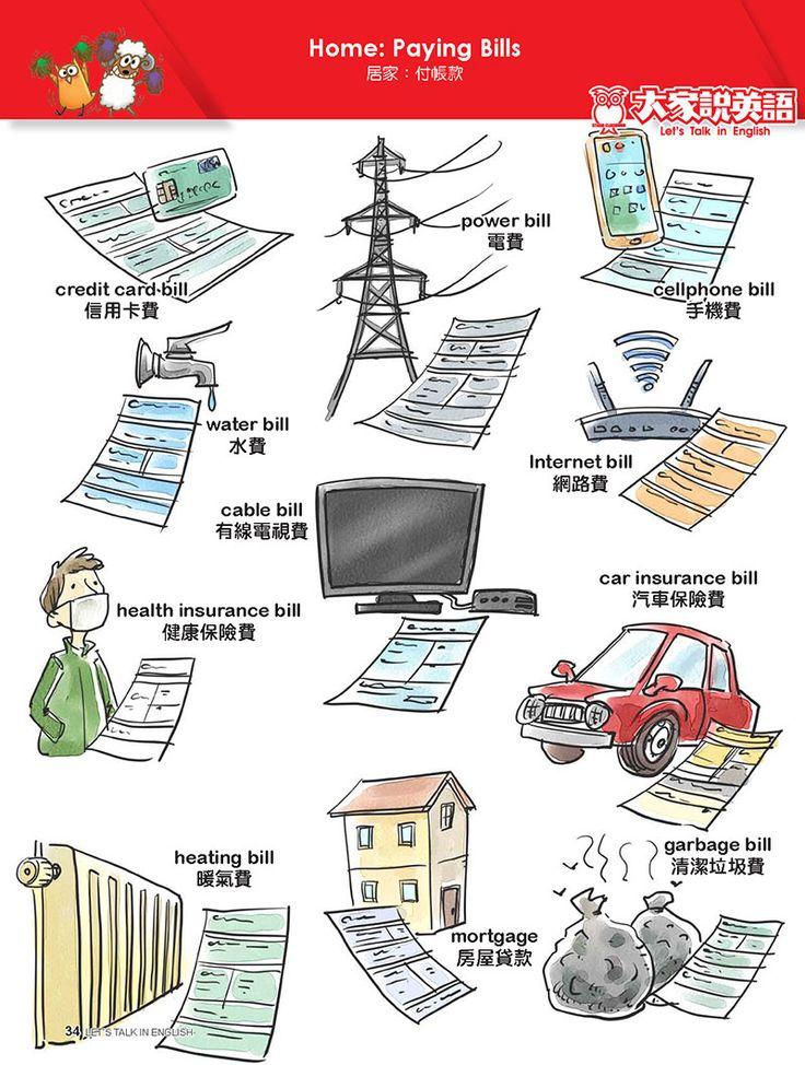 【Visual English】Home: Paying Bills