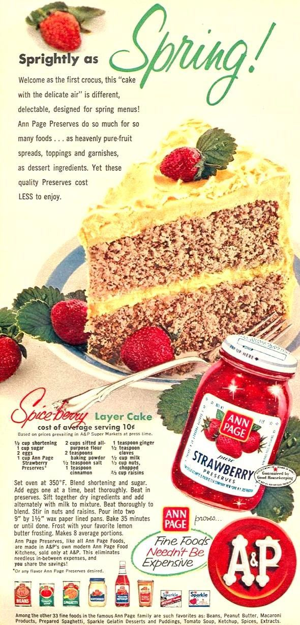 """Spice Berry Layer Cake recipe from """"Woman's Day"""" magazine 
