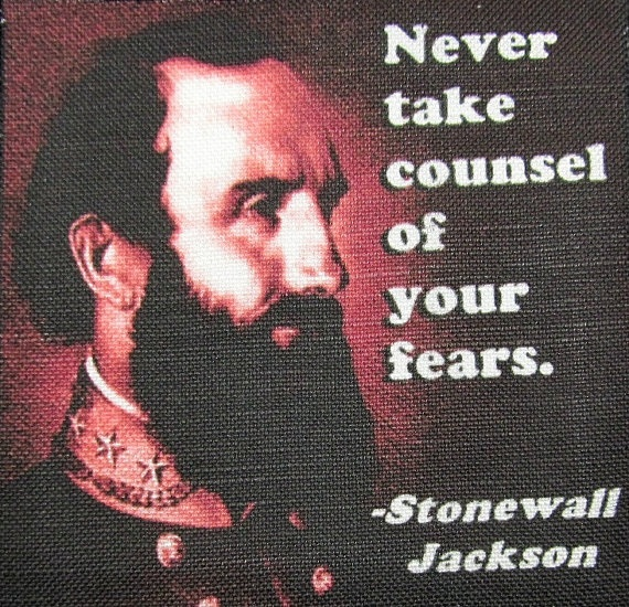 STONEWALL+JACKSON+QUOTE++Printed+Patch++Sew+On++by+DaddyoFattyo,+$9.95