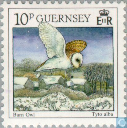 1990  Guernsey - Birds