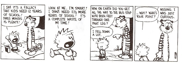 roundup of Calvin and Hobbes comic strips - I have always loved Calvin & Hobbes, these have some moral stories as well