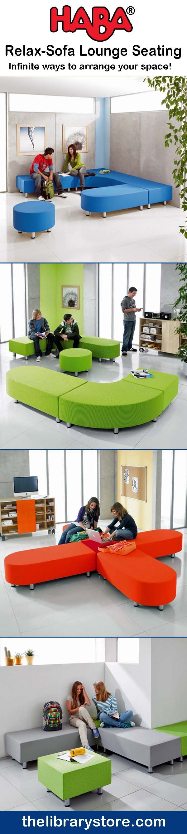 Flexible teen furniture! - HABA Relax - Sofa lounge seating collection.                                                                                                                                                      More