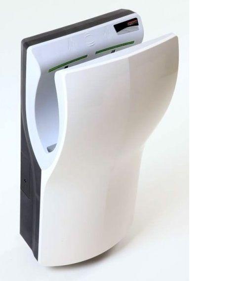 Plastiqline Twinflow hands-in handendroger. <br /> Droogt de handen in ca. 10 seconden met een krachtige tweezijdige luchtstroom.<br /> Voorzien van wateropvangtank en HEPA 13 filter.